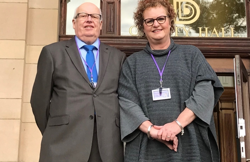 Councillors Jim Perkins and Alison Fox, Runners-up Councillor of the Year Award 2017