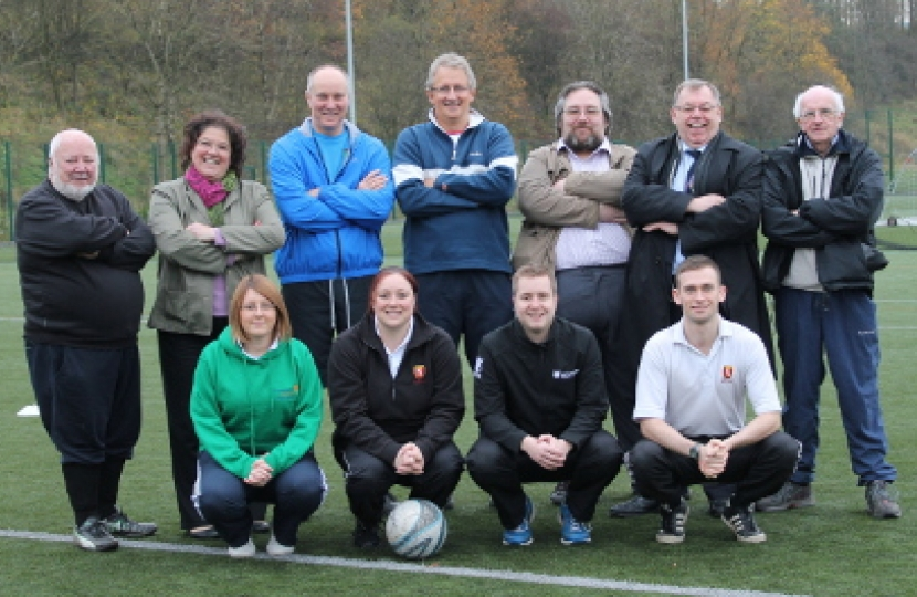 Councillors Jean & George Wharmby help launch Glossop Gentlemen FC
